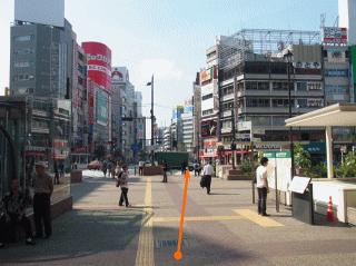 JR池袋駅 西口(中央) から『しんそう池袋西口』までの道順(池袋西口駅前)