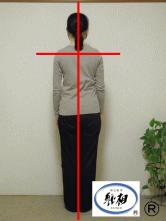 体の傾き(体のゆがみ)を直して腰痛が改善した女性